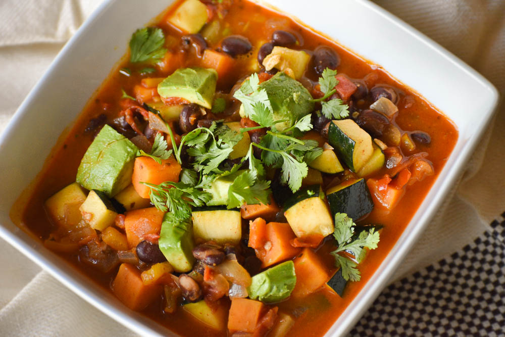 Spicy, Vegan Vegetable Soup