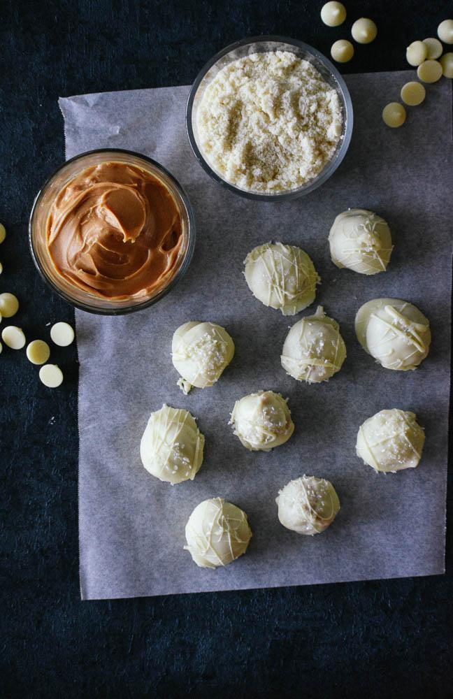 Peanut Butter Protein Snowballs